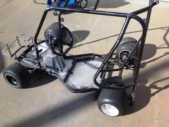 Can you use flat kart chassis and put a QRC cage on it and do good ?